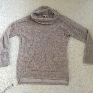 Sonoma high neck turtle neck tan sweater